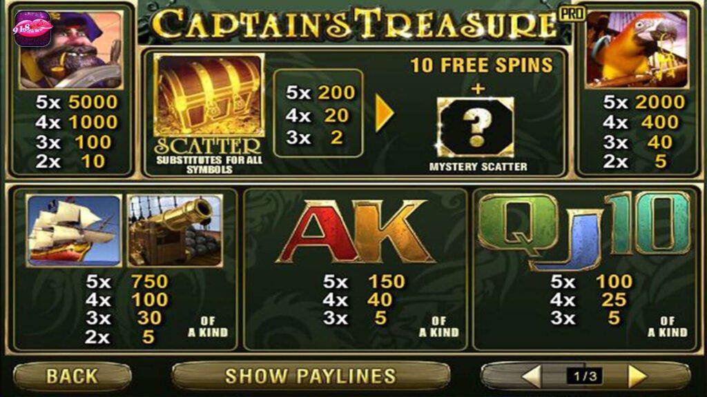 ช่องสมบัติของกัปตัน | Captain Treasure Slot