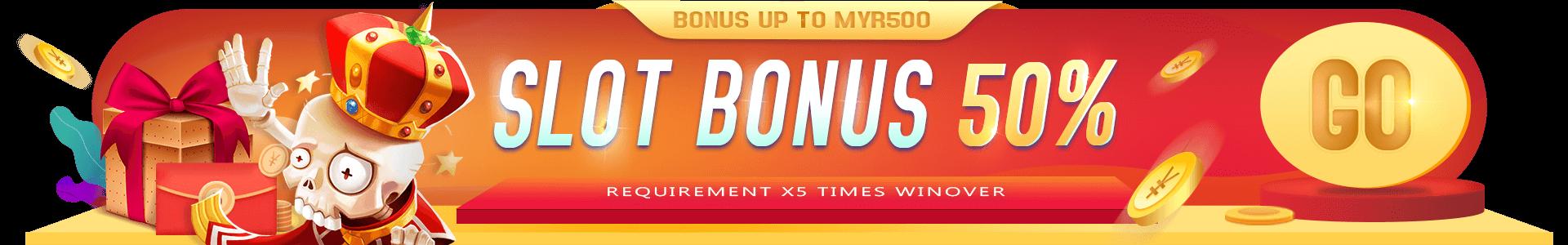 918kiss Slot Welcome Bonus 50%